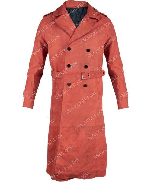 John Shaft II Shaft Samuel L. Jackson Maroon Trench Coat