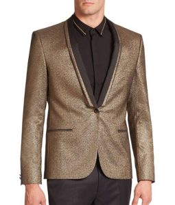 Jared Leto Golden Tuxedo Jacket