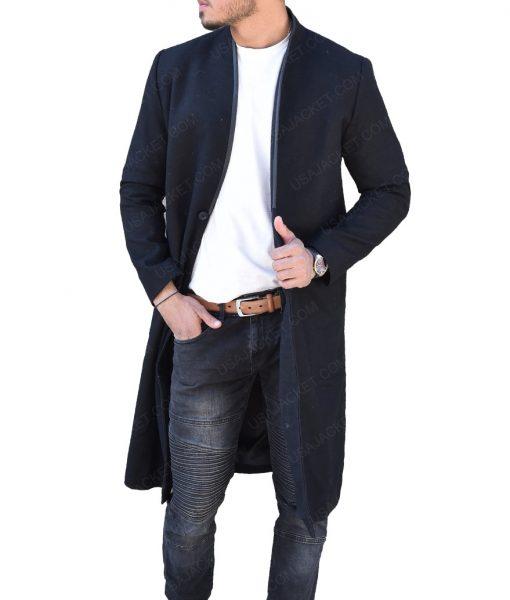 Josh Stewart The Punisher John Pilgrim Black Wool Coat