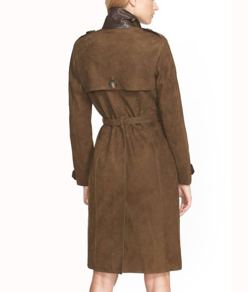 Lurel Suede Leather Coat