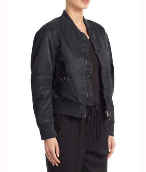 Lace up Black Jacket