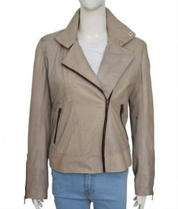 Chloe Grey Leather jacket