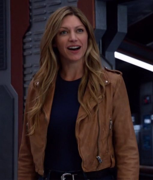 Jes Macallan Legends of Tomorrow Season 4 Episode 4 Leather Jacket