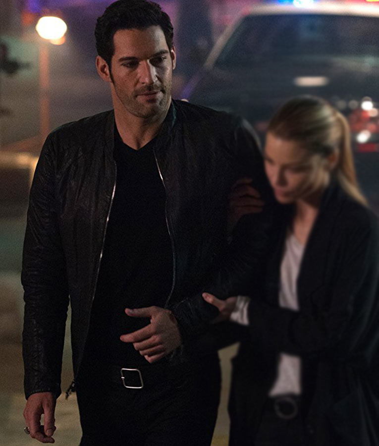 Lucifer Morningstar Is That A Stage Name: Lucifer Morningstar Leather Jacket