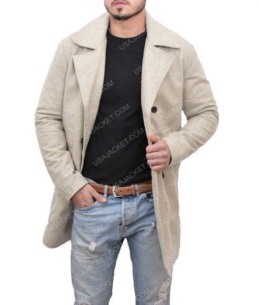 Luke Pasqualino Snatch Albert Albert Hill Grey Wool Trench Coat