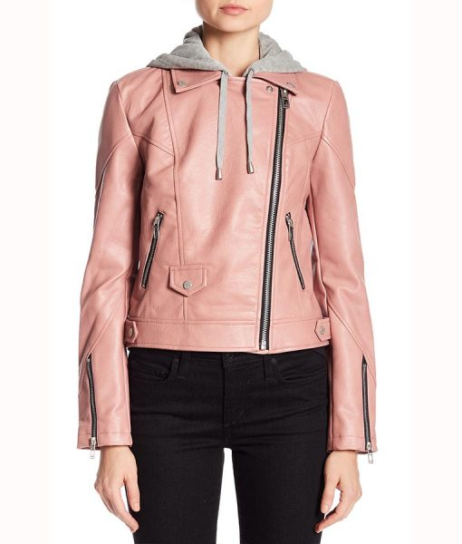 Maria Pink Leather Jacket