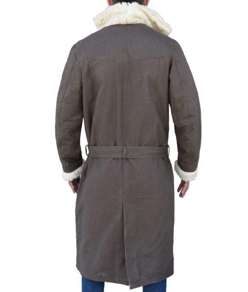 Matt Bomer Doom Patrol Negative Man Larry Trainor Fur Collar Trench Coat