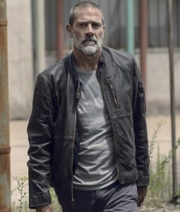 The Walking Dead Negan Season 9 Black Leather Jacket