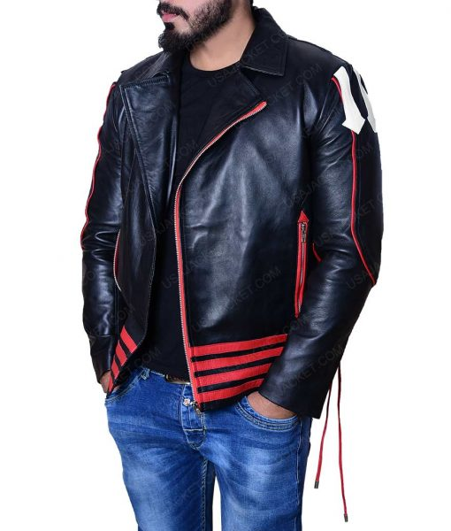 Bohemian Rhapsody Red and Black Leather Jacket