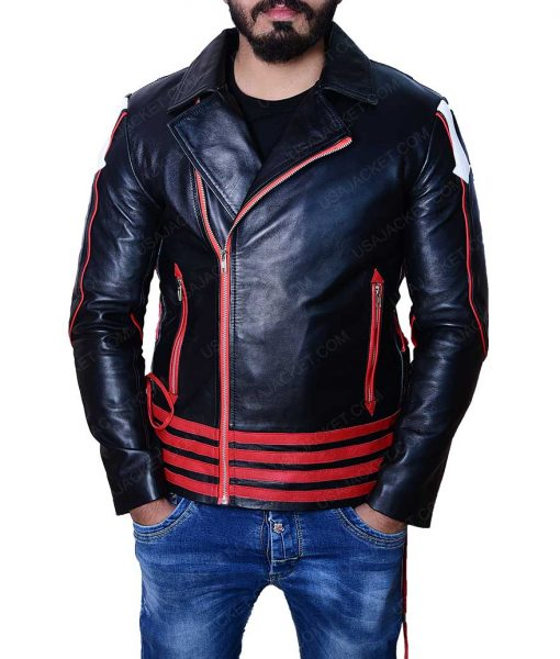 Rami Malek Bohemian Rhapsody Red and Black Jacket
