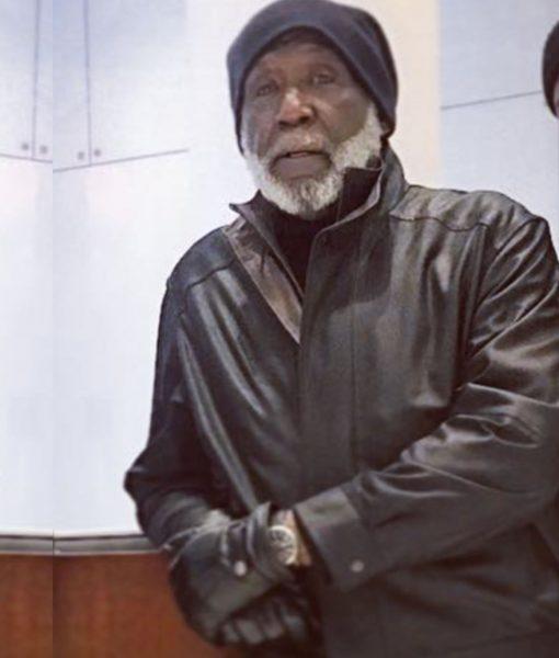 Richard Roundtree John Shaft I Black Leather Jacket