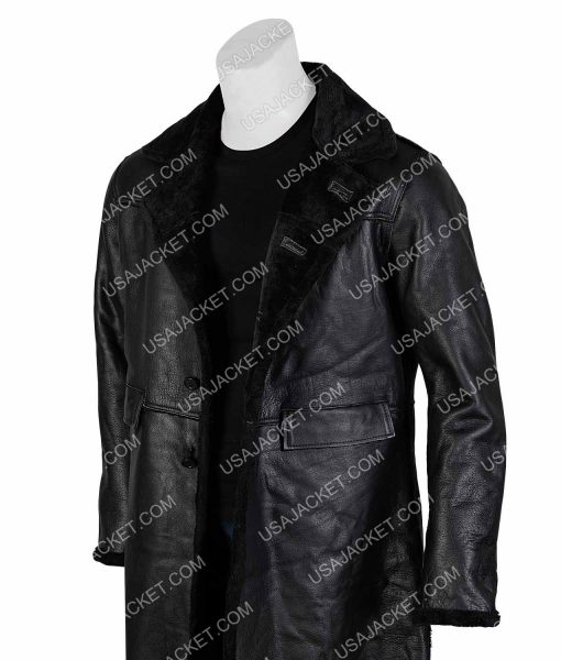 Samuel L. Jackson Shaft John Shaft II Leather Trench Coat
