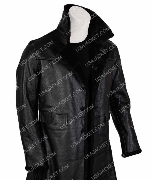 Samuel L. Jackson Shaft John Shaft II Black Leather Coat