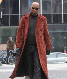 Samuel L. Jackson Shaft John Shaft II Maroon Coat