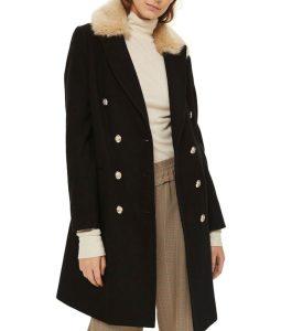 Sara LanceLegends Of Tomorrow S3E12Caity Lotz Black Fur Collar Coat