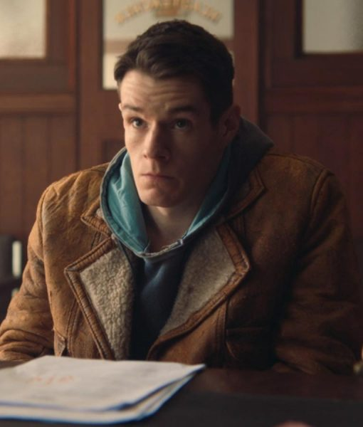 Sex Education Connor Swindells Leather Jacket