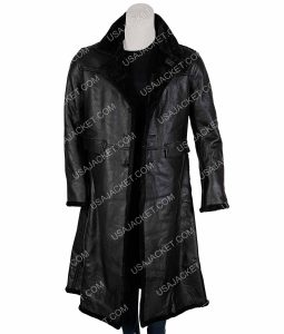 Samuel L. Jackson Shaft John Shaft II Black Leather Trench Coat