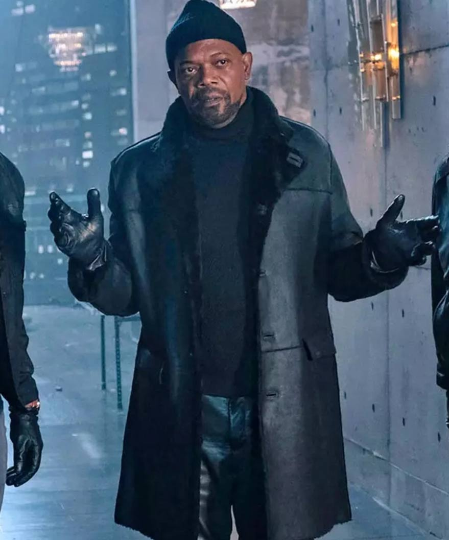 John Shaft Ii Shaft Samuel L Jackson Black Leather Trench