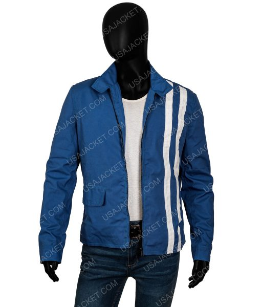 Speedway Elvis Presley Blue Jacket With White Stripes