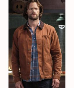 Jared Padalecki Supernatural Season 14 Brown Cotton Jacket