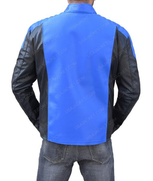 The Flash Barry Allen Blue Lantern Leather Jacket