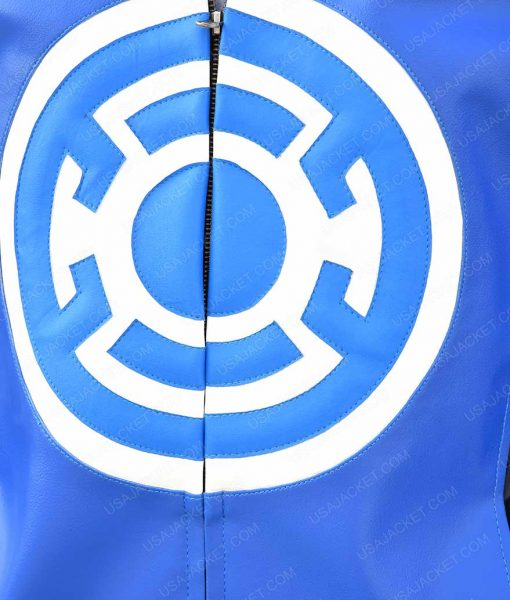 The Flash Blackest Night Barry Allen Blue Leather Jacket