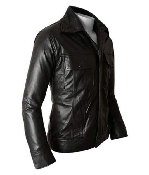The King of Rock N Roll Elvis Presley Slimfit Black Leather Jacket