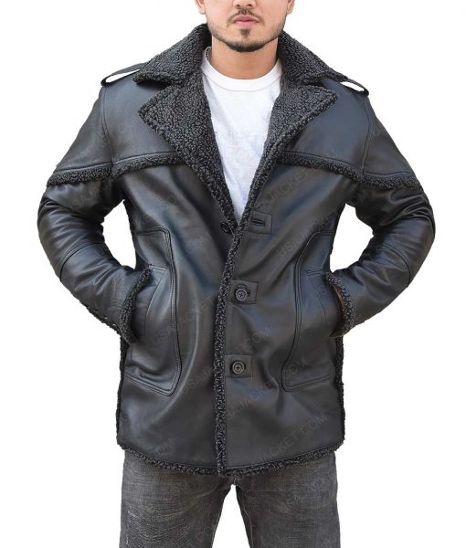 The Punisher 2 Billy Russo Black Shearling Coat