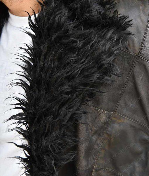 Robert Sheehan The Umbrella Academy Klaus Shearling Fur Trench Coat