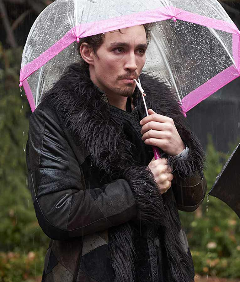 The Umbrella Academy Robert Sheehan Shearling Coat