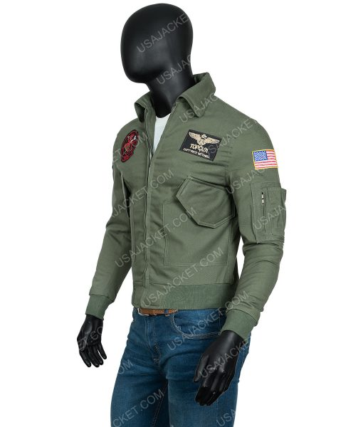 Tom Cruise Top Gun 2 Maverick MA-1 Flight Jacket With Patches