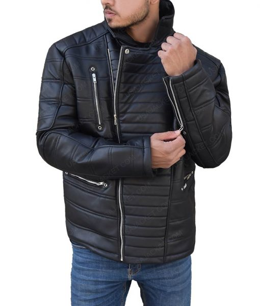 Trevor 'Viking' Calcote Cold Pursuit Tom Bateman Black Jacket