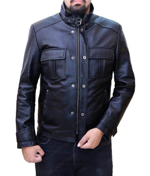 Jake Moore Wall Street Money Never Sleeps Shia Labeouf Leather Jacket