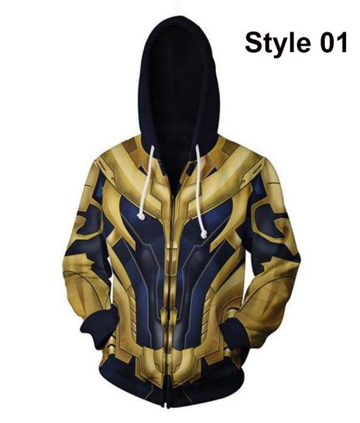 Avengers 4 Thanos Zip Up Hoodie