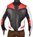 Avengers Endgame Quantum Realm Red Leather Jacket