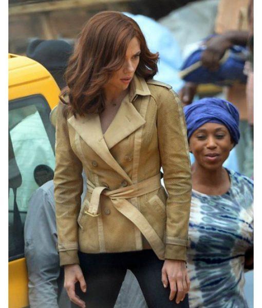 Scarlett Johansson Brown Jacket