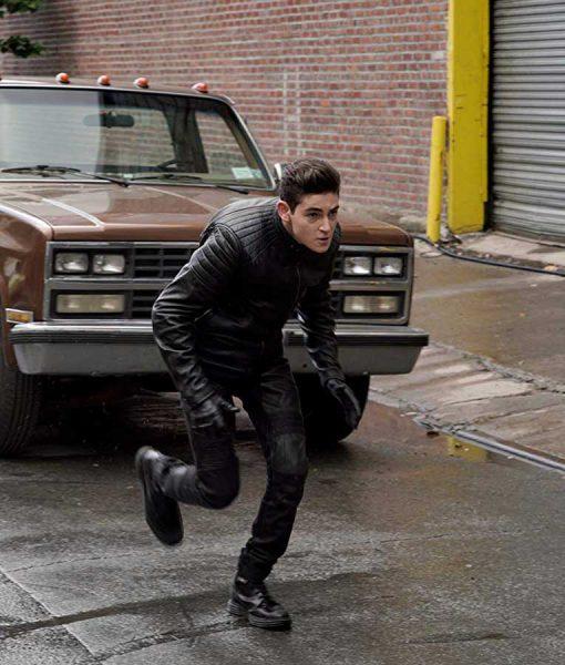 Gotham Bruce Wayne Black leahter Jacket