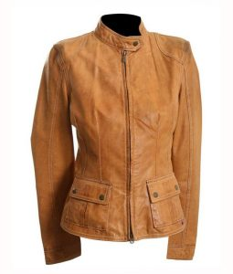 Avengers Scarlett Johansson Tan Brown Jacket