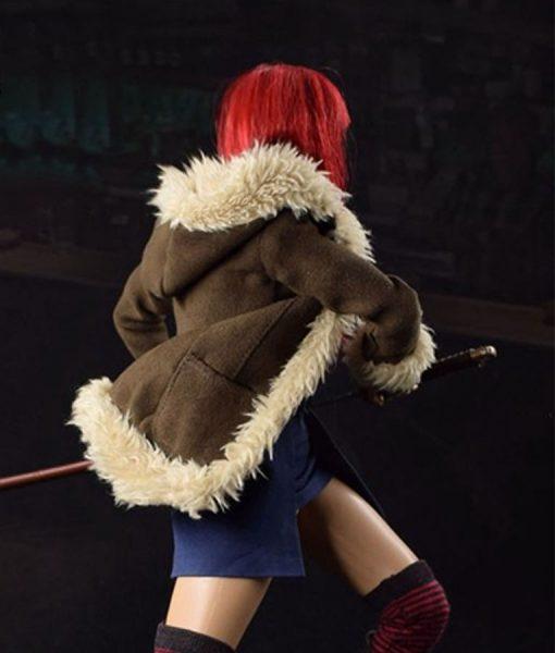 Yukio Suede Leather Coat