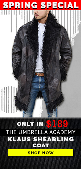 The Umbrella Academy Klaus Shearling Coat Banner