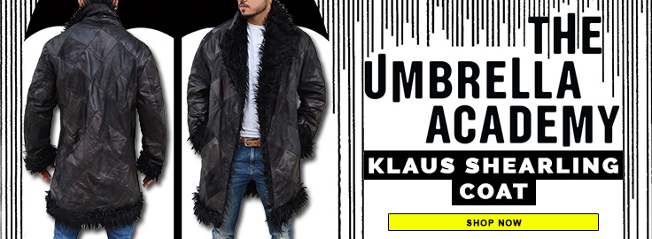 The Umbrella Academy Klaus Shearling Coat Mobile Banner