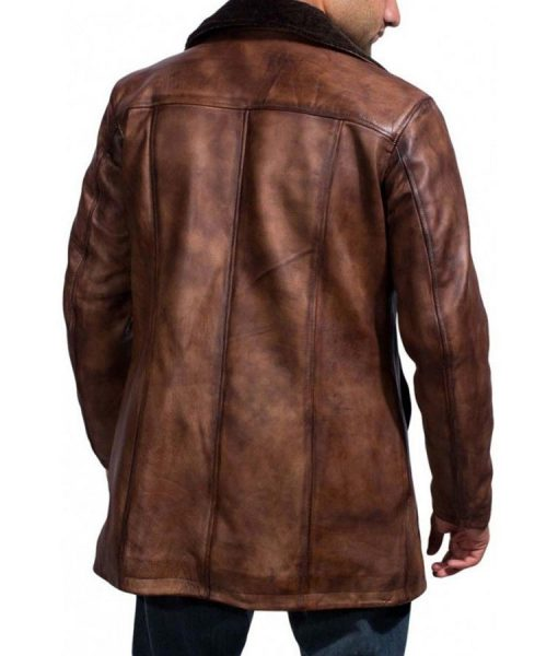 Hugh Jackman Leather Coat