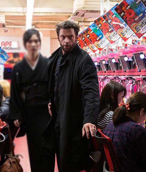 Hugh Jackman Black Coat