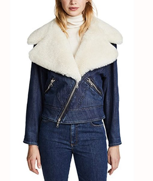 Ava Jalali jacket with fur collar