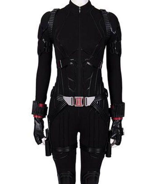Avengers Endgame Black Widow Leather Jacket With Free Avenger T-Shirt