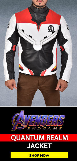 Avengers Endgame Quantum Realm Jacket Front Banner