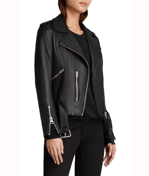 Caitlin Lewis Black Biker Jacket