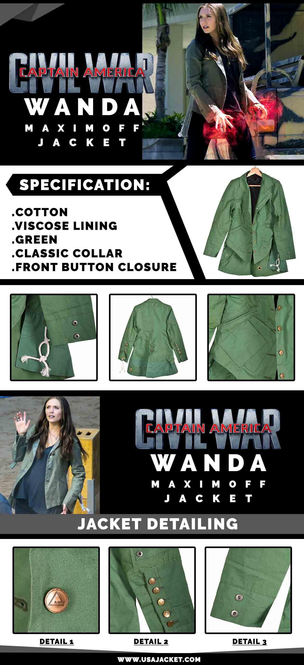 Wanda Maximoff Jacket