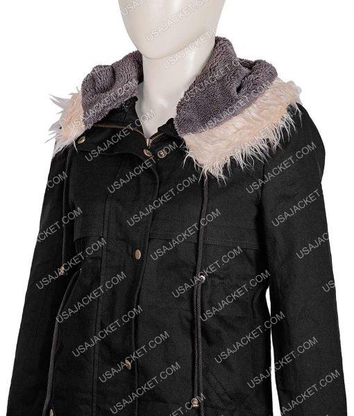 Sandra Oh Shearling Hoodie Coat