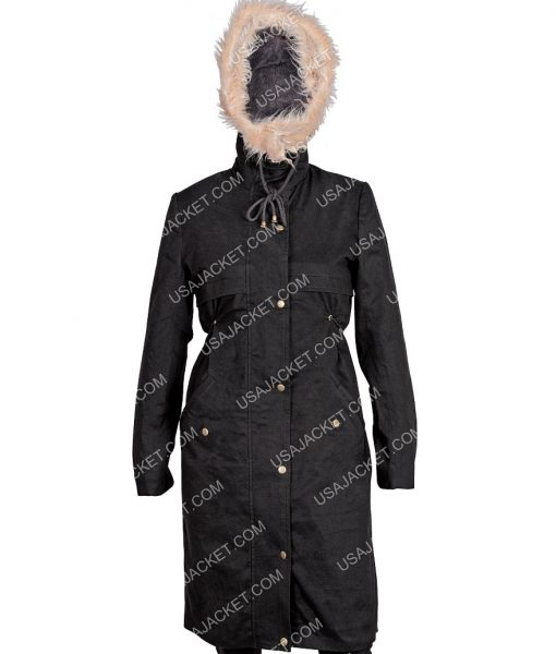 Eve Polastri KILLING EVE SANDRA OH Cotton Black Coat